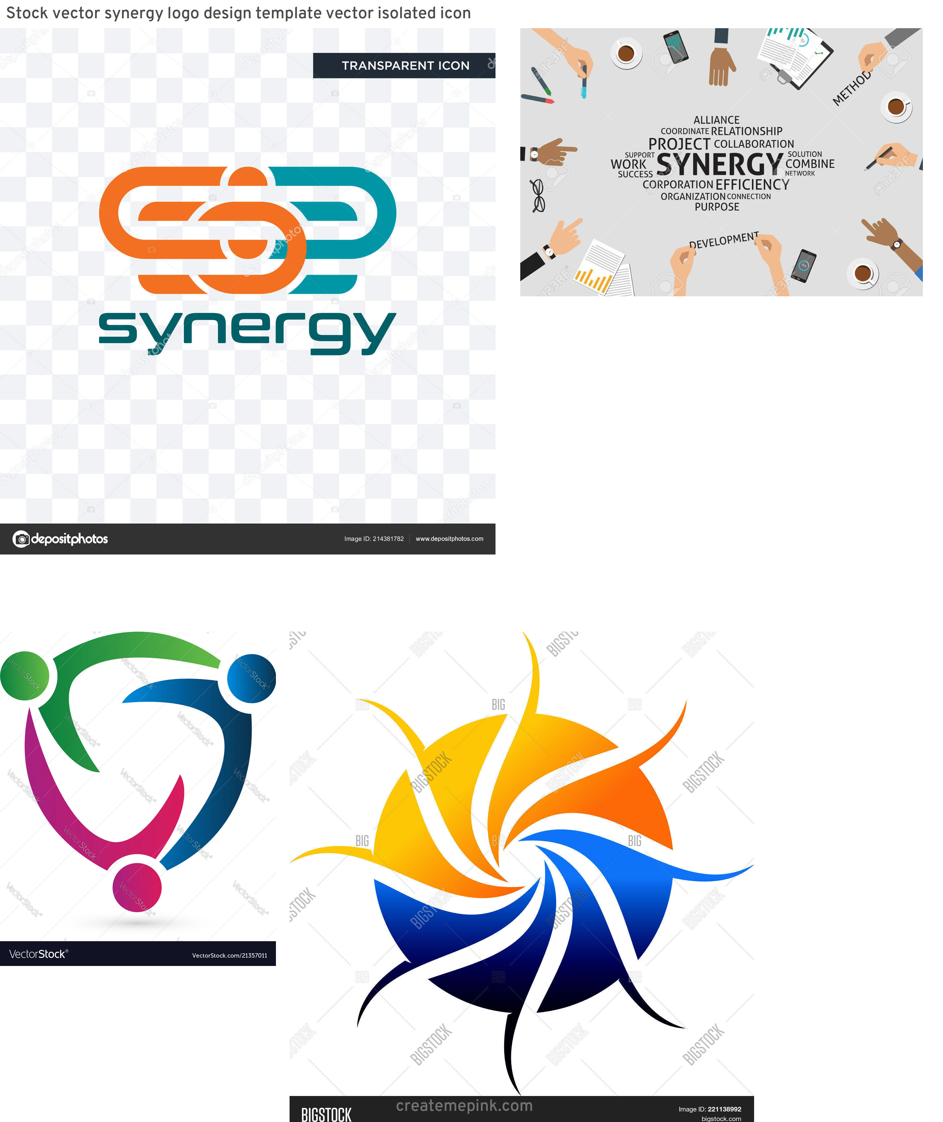 Vector Synergy: Stock Vector Synergy Logo Design Template Vector Isolated Icon