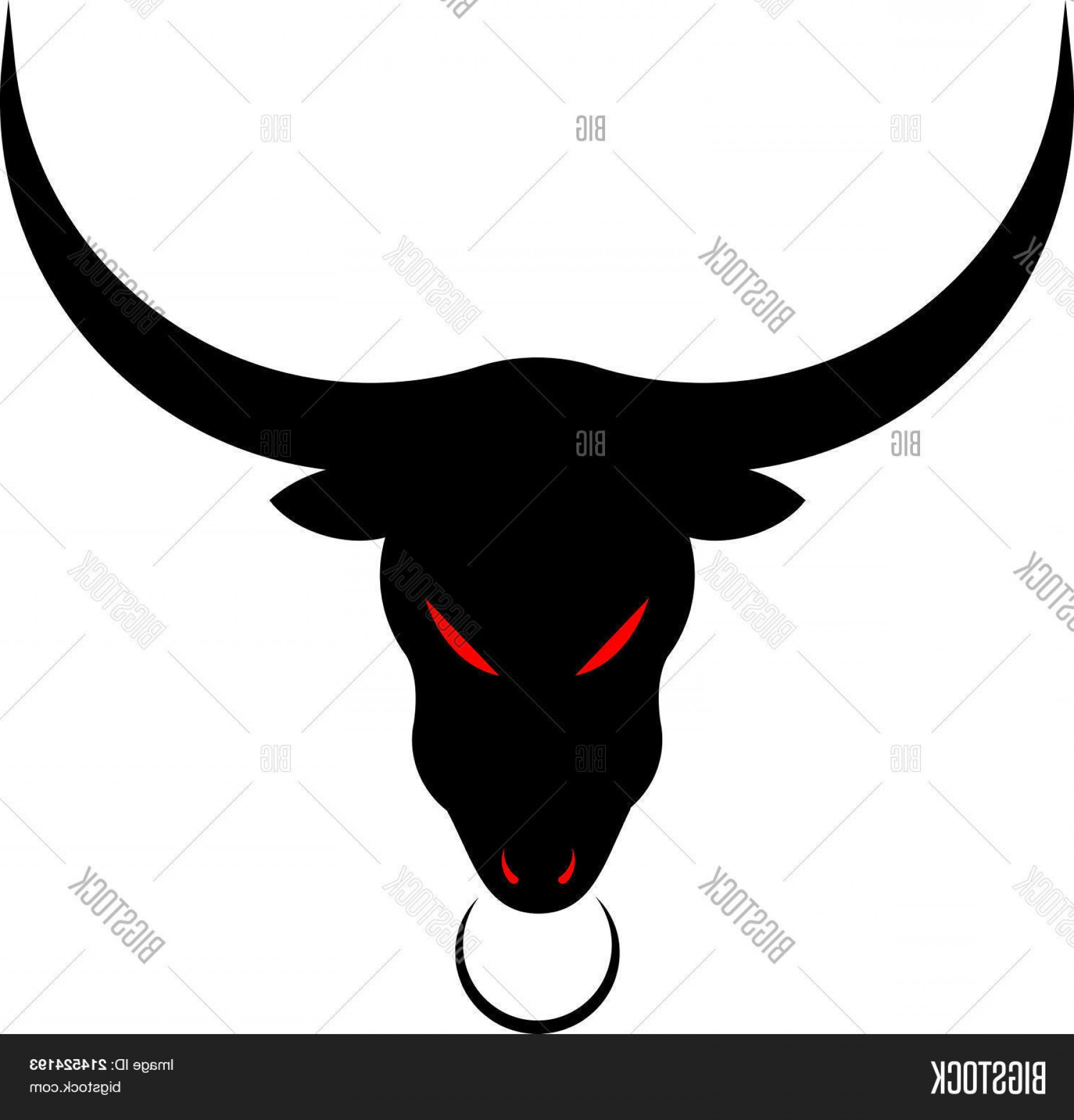 Taurus Vector: Stock Vector Taurus Black Bull Head Logo Design Templatec Vector Isolated