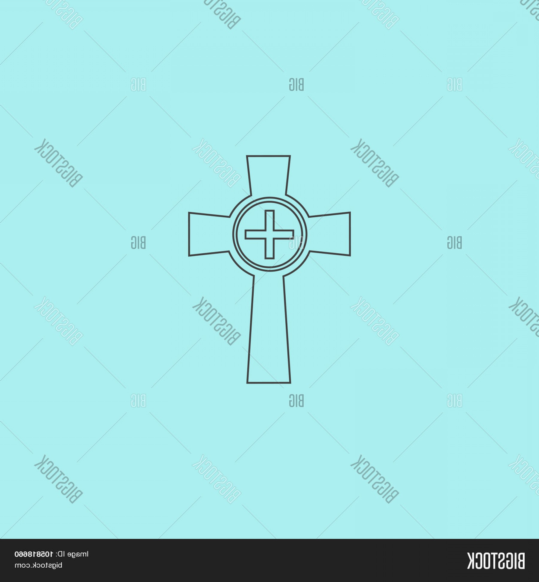 Gravestone Outline Vector: Stock Vector Tombstone Cross Gravestone Icon