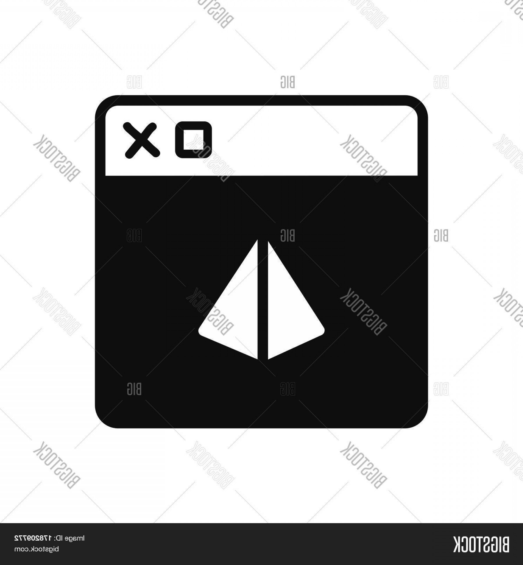 Windows 8 Phone Icon Vector: Stock Vector Triangular Window D Print Normal Icon Vector Design Support File Eps