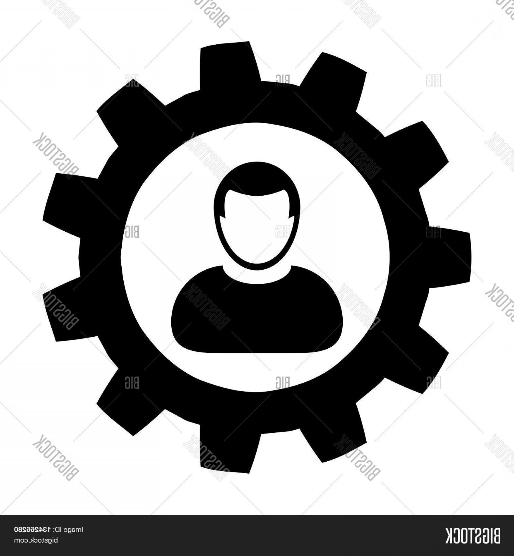 Vector Configuration: Stock Vector User Icon Settingsc Gearc Configurationc Admin User Icon In Glyph Vector Illustration