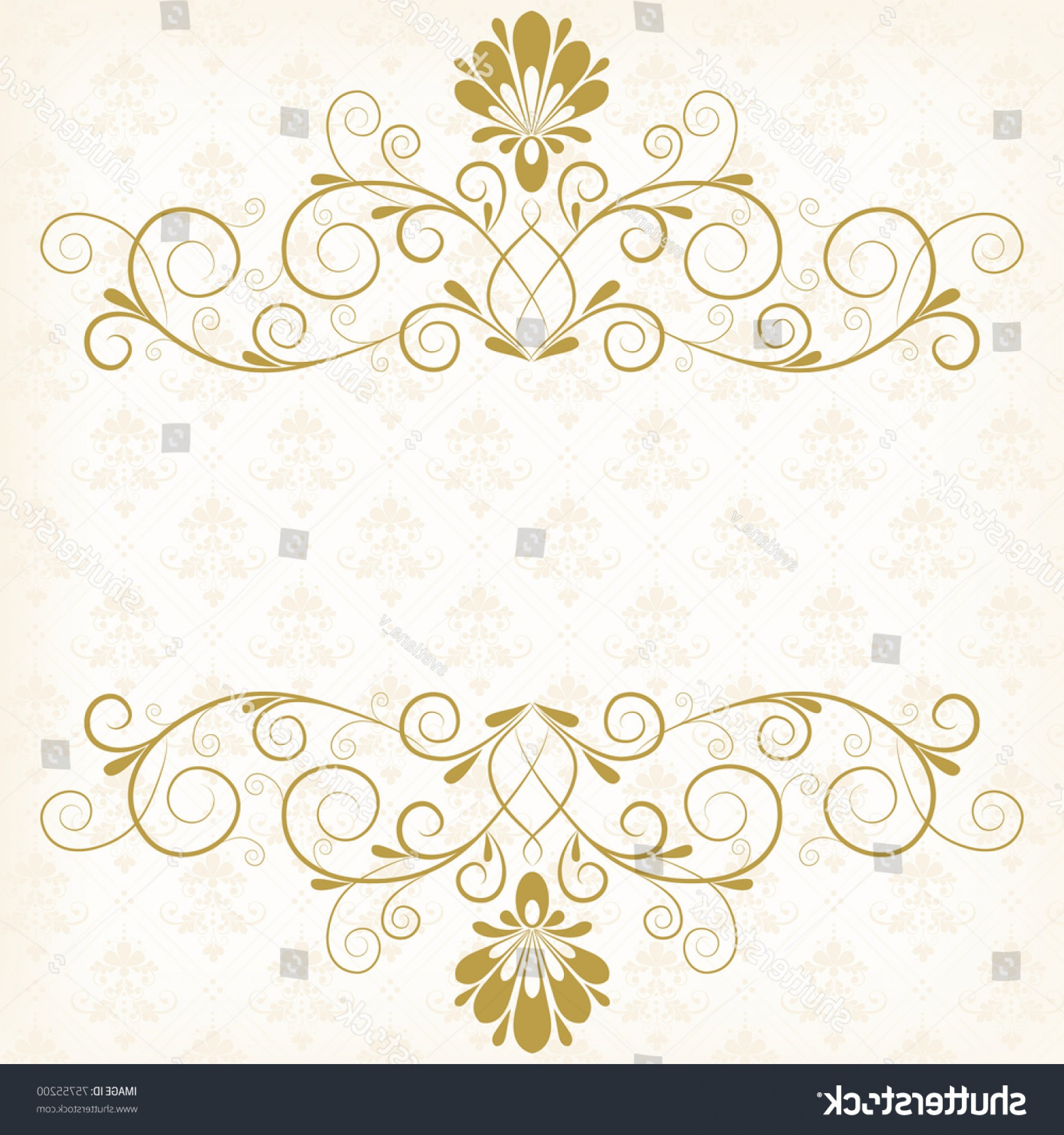 Stock Vector Vector Calligraphy Vintage Floral Background With