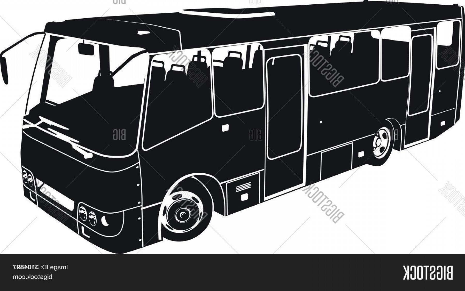 Pic Bus Vector Format: Stock Vector Vector City Bus Silhouette