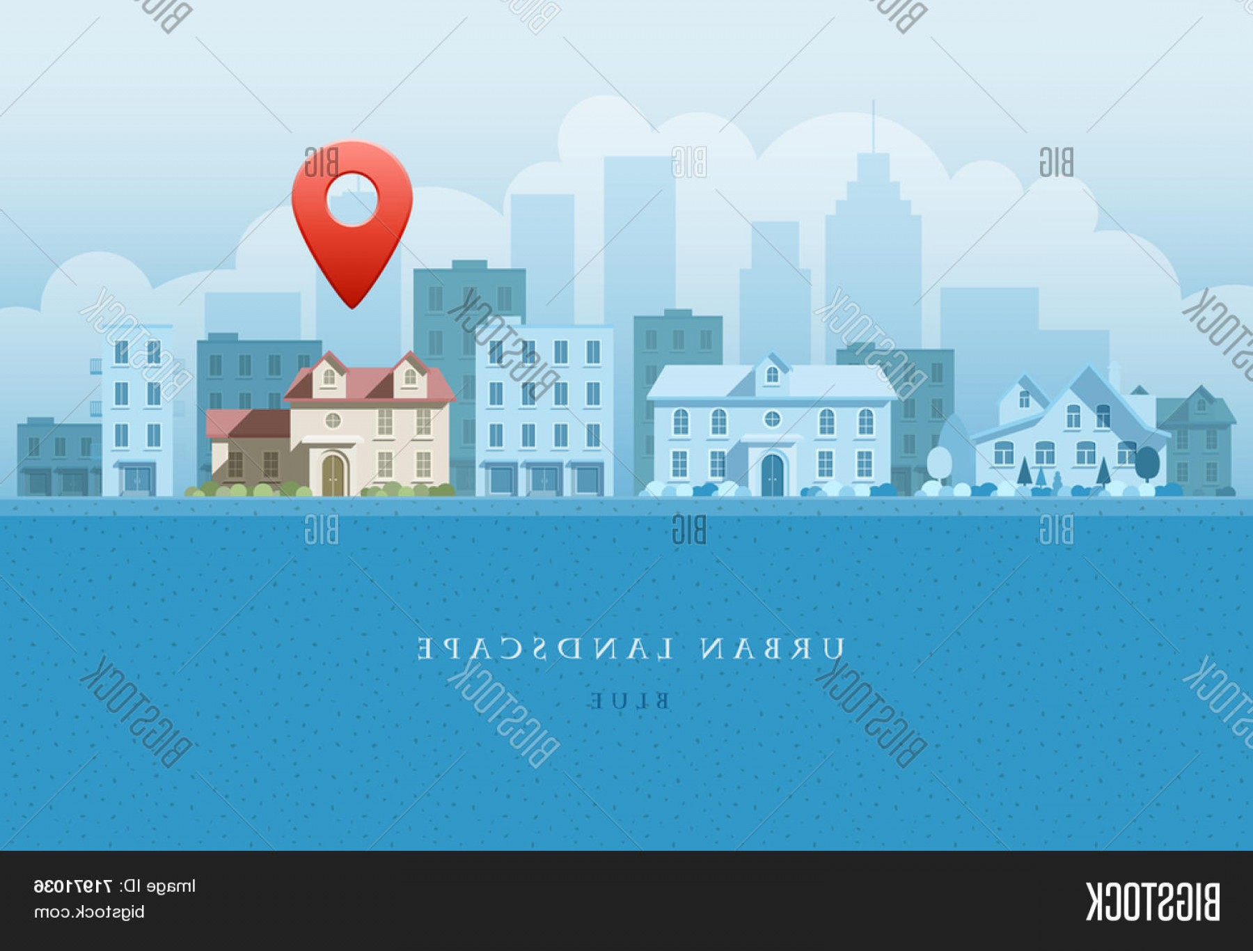 City Vector: Stock Vector Vector Flat Illustration Of City Landscape Options Concept Elements Are Layered Separately In Vect