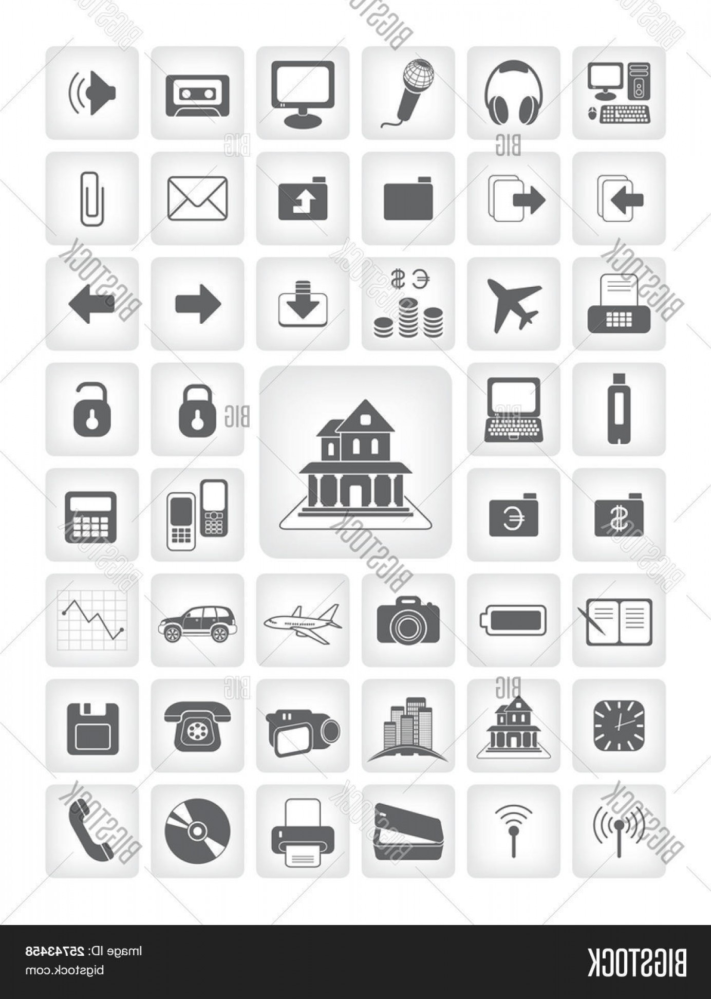 Vector Applications On Computers: Stock Vector Vector Icons For Web Applications Business Computers Finance