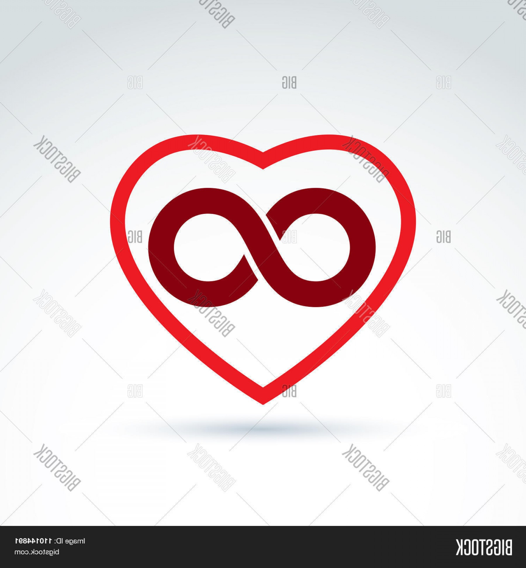 Vector Infinity Symbol Hearts: Stock Vector Vector Infinity Iconc Eternal Life Idea Illustration Of An Eternity Symbol Placed On Red Heart
