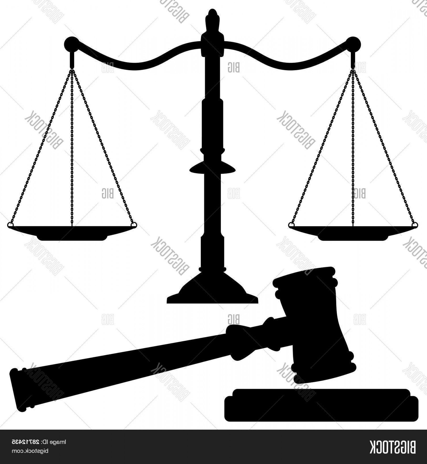 Scales Of Justice Vector: Stock Vector Vector Scales Of Justice And Gavel