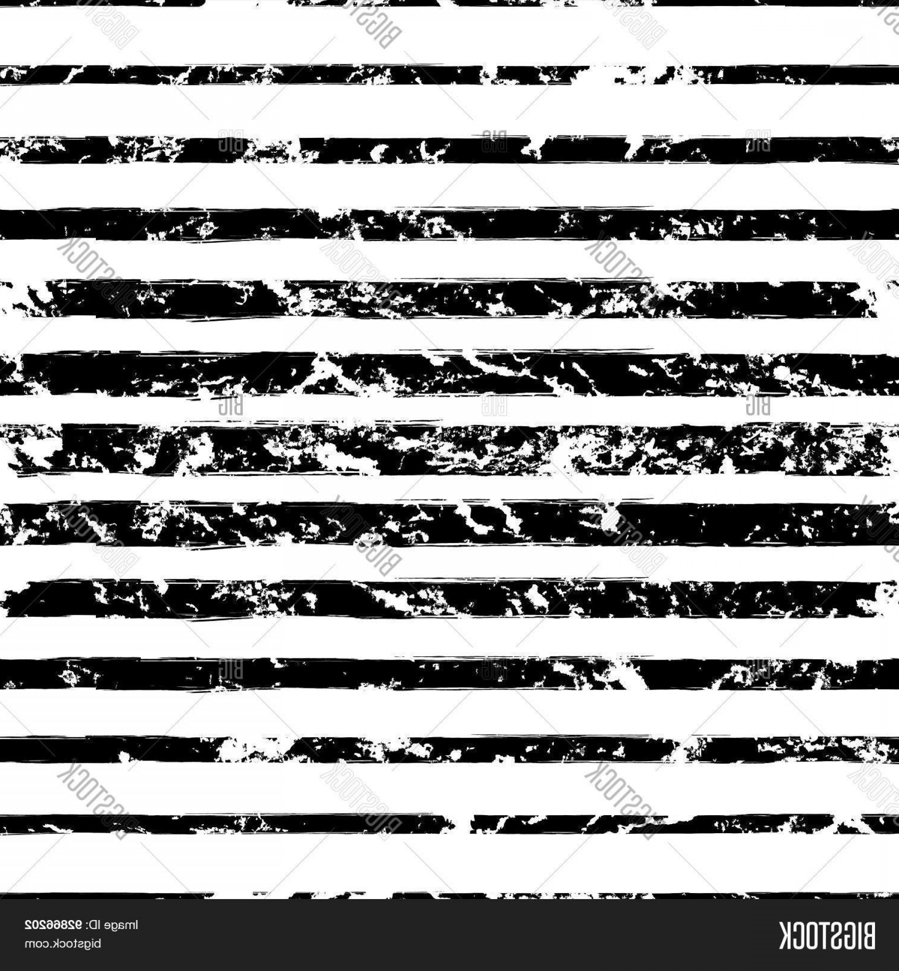 Grunge Stripes Vector: Stock Vector Vector Watercolor Different Sized Stripes Grunge Seamless Pattern Hand Drawn Abstract Black And Whi