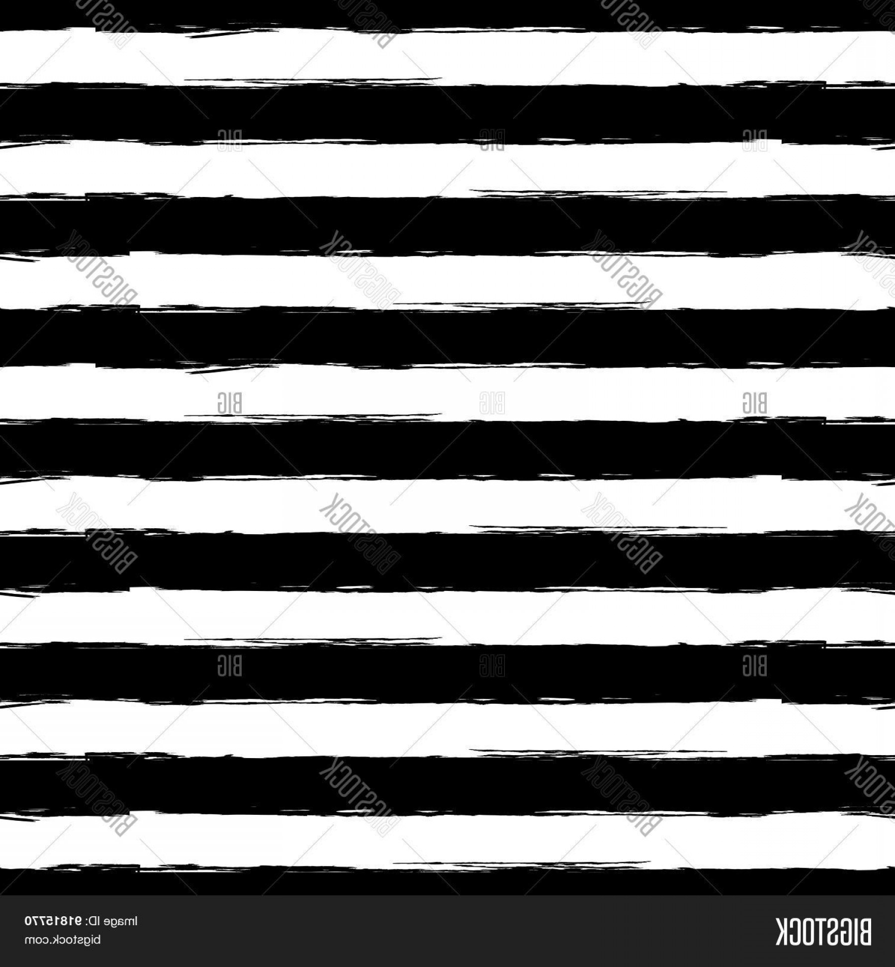 Grunge Stripes Vector: Stock Vector Vector Watercolor Stripe Grunge Seamless Pattern Abstract Black And White Brush Strokes Background