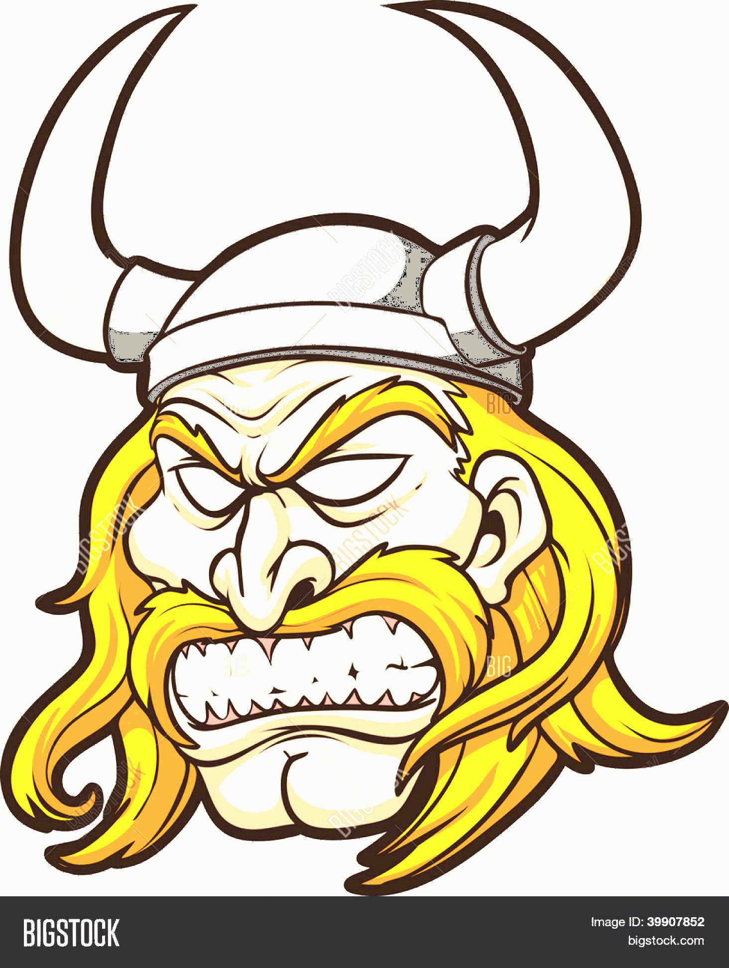 Viking Head Vector: Stock Vector Viking Head Vector Clip Art Illustration With Simple Gradients All In A Single Layer