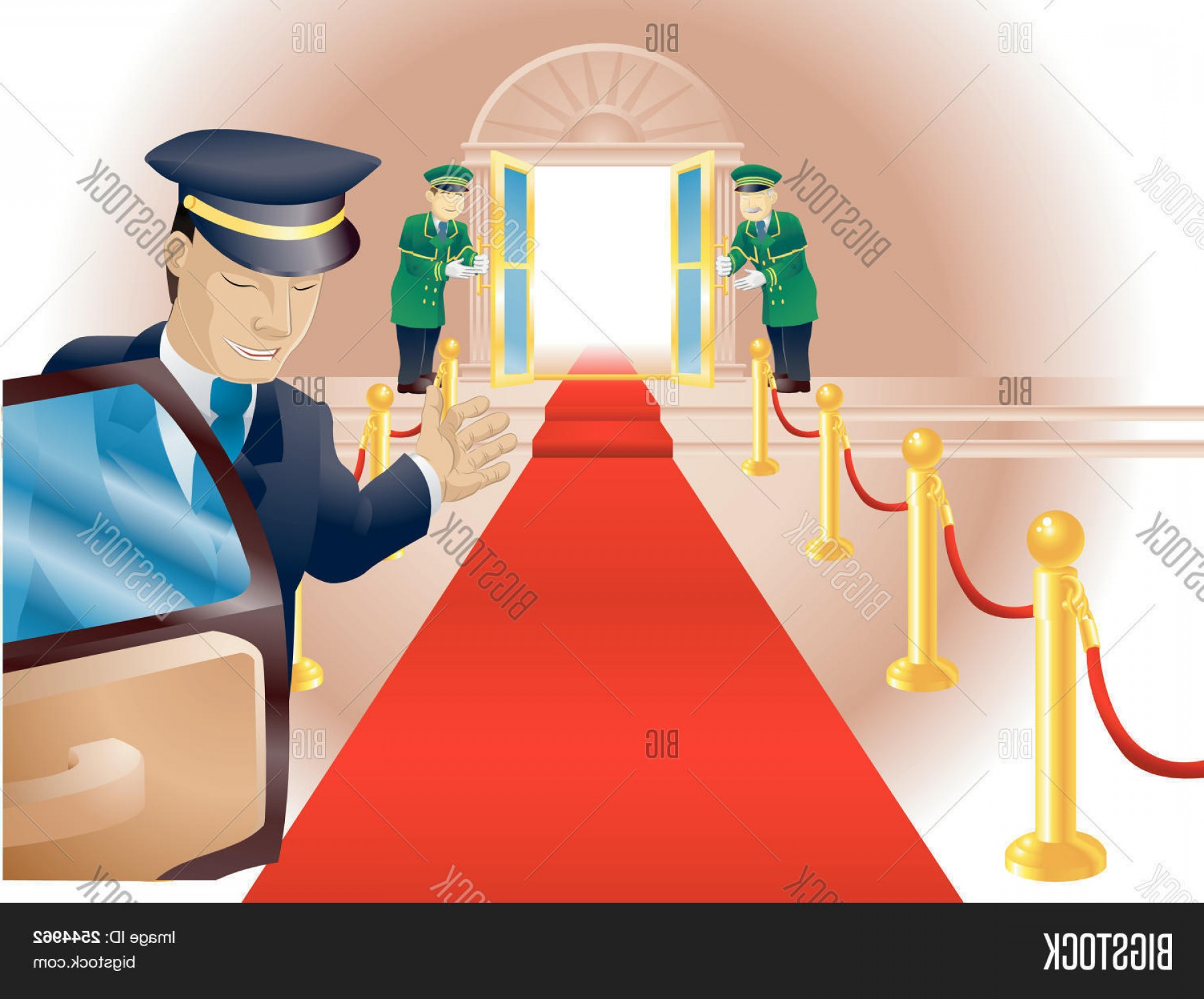 Chauffer Driver Cap Vector: Stock Vector Vip Red Carpet Treatment