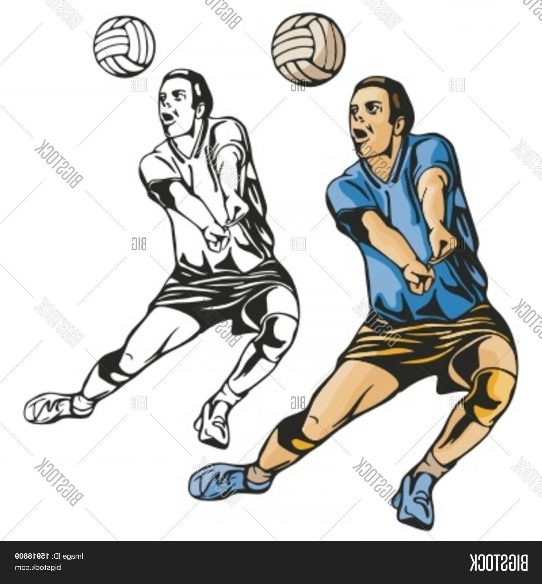 Volleyball Player Vector: Stock Vector Volleyball Player Vector Illustration