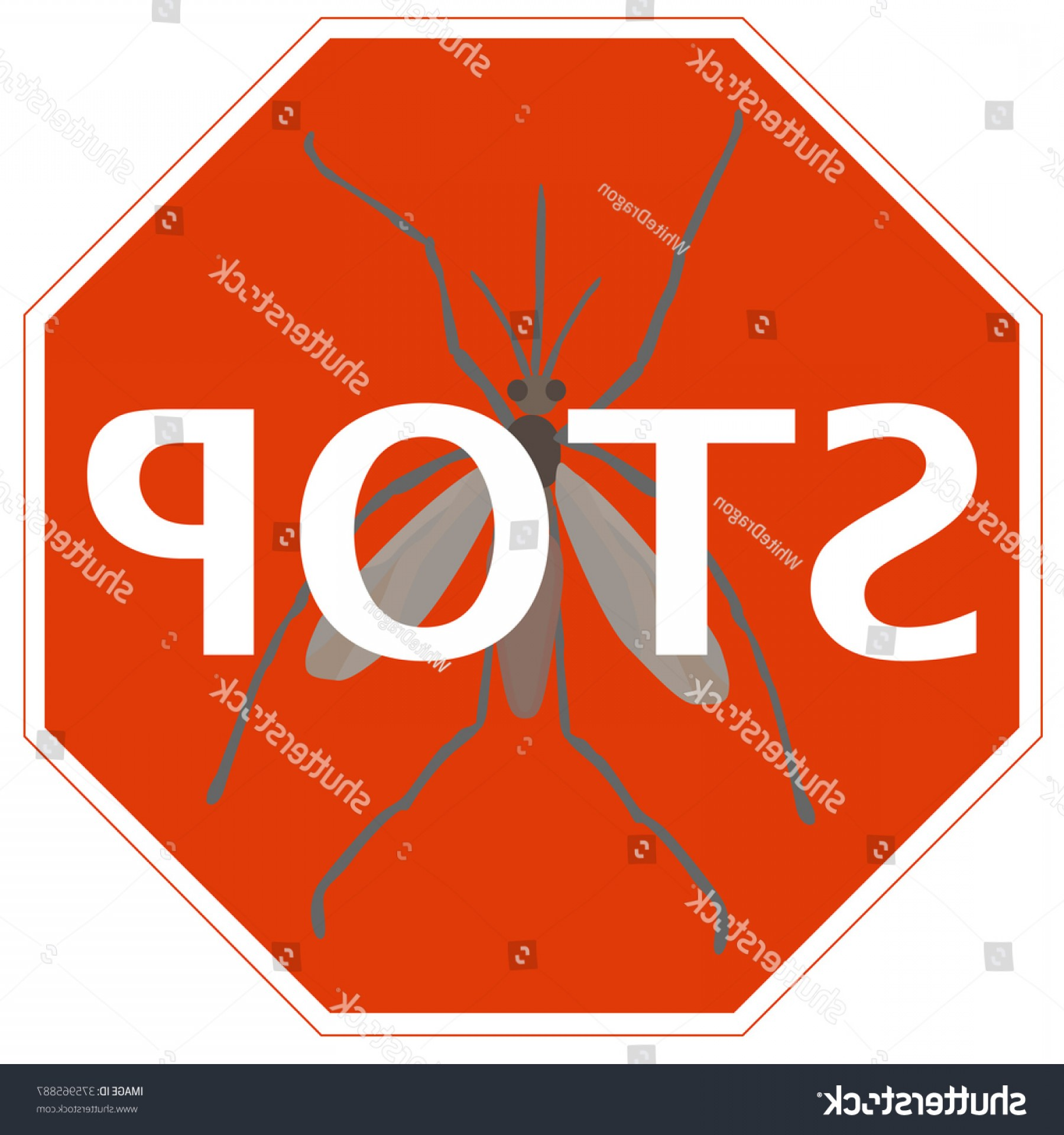 Infectious Disease Vector: Stop Sign Mosquito Symbol Infectious Disease