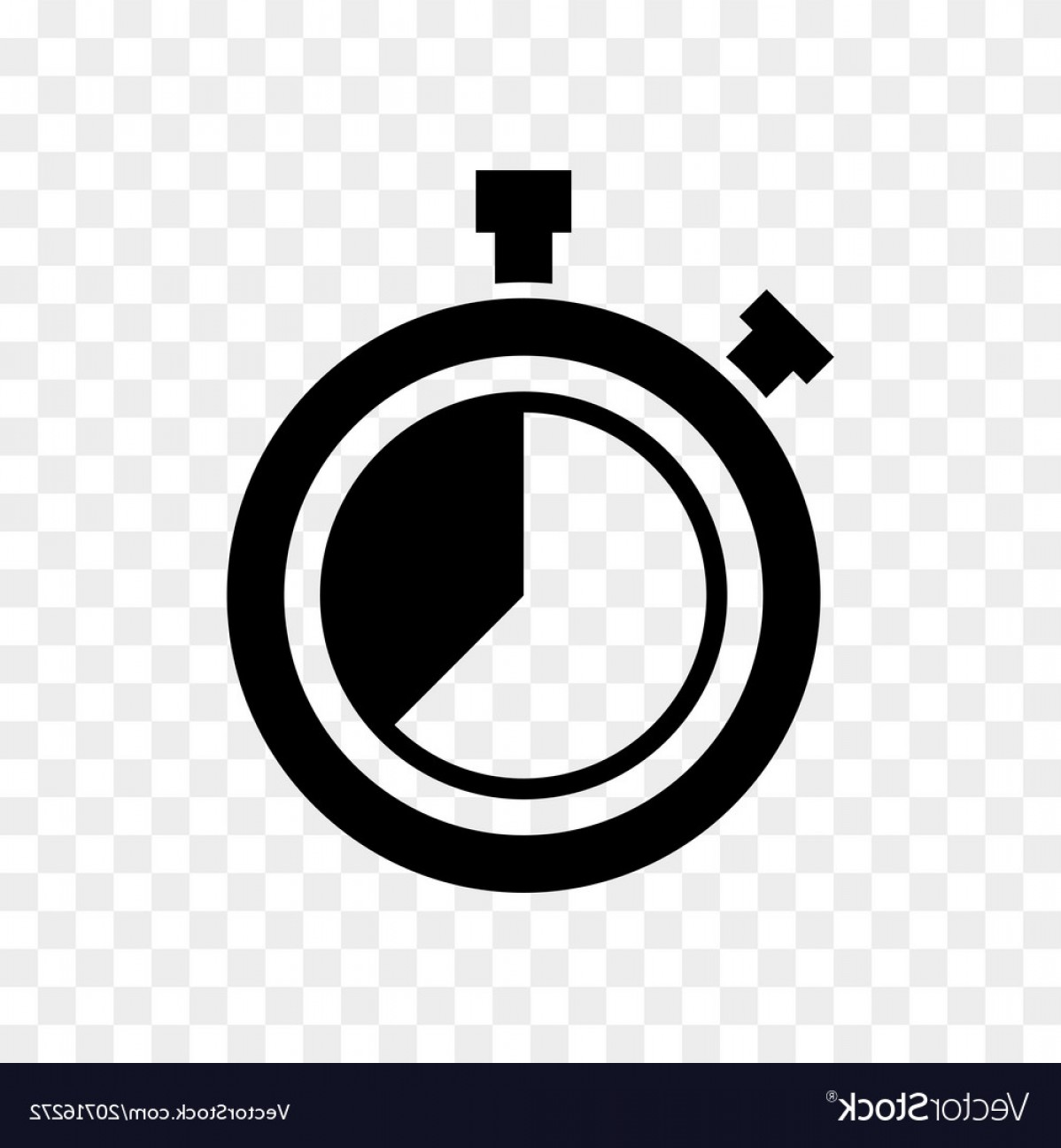 Stop Watch Vector Ai File: Stopwatch Countdown Clock Buttons Icon Vector