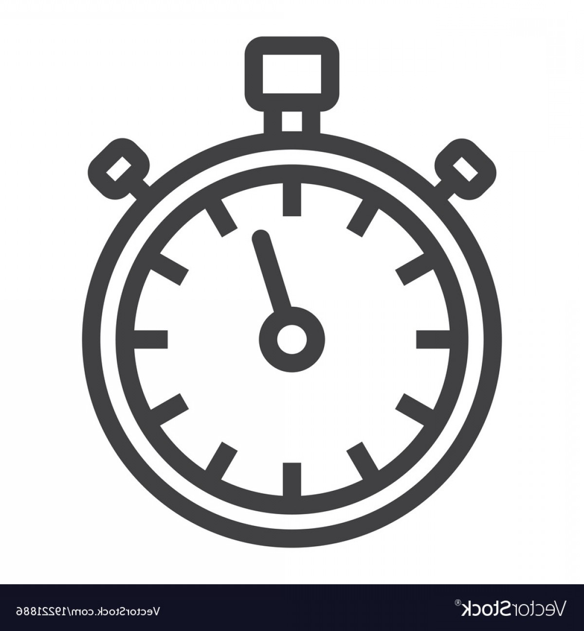 Stop Watch Vector Ai File: Stopwatch Line Icon Fitness And Sport Vector