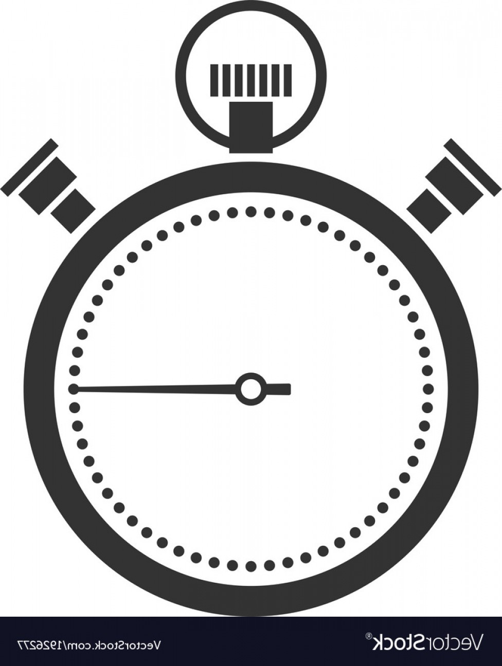 Stop Watch Vector Ai File: Stopwatch Or Chronometer Icon Vector