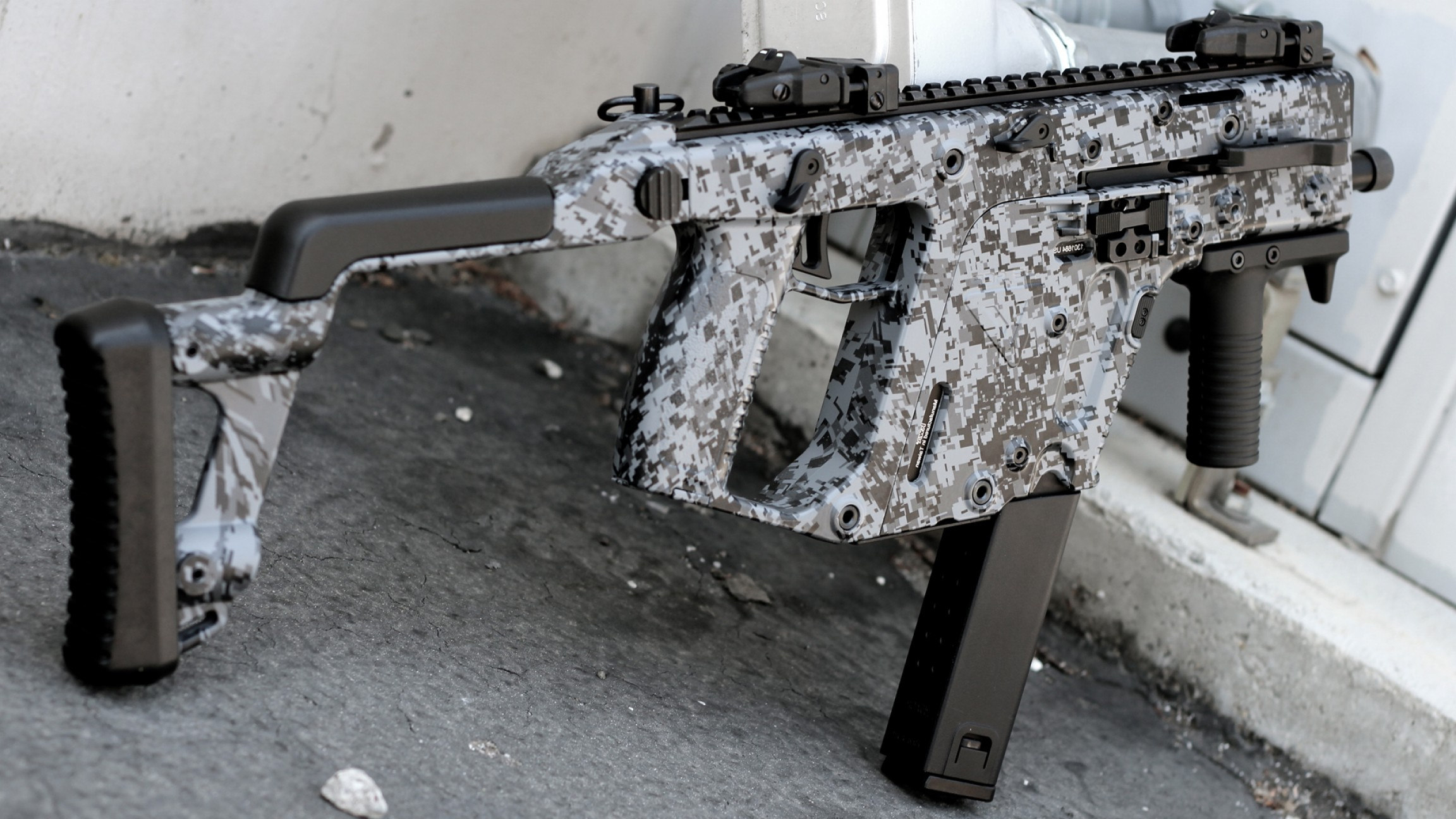 Painted Kriss Vector: Storm Digital Custom Paint Job By Black Ops Airsoft