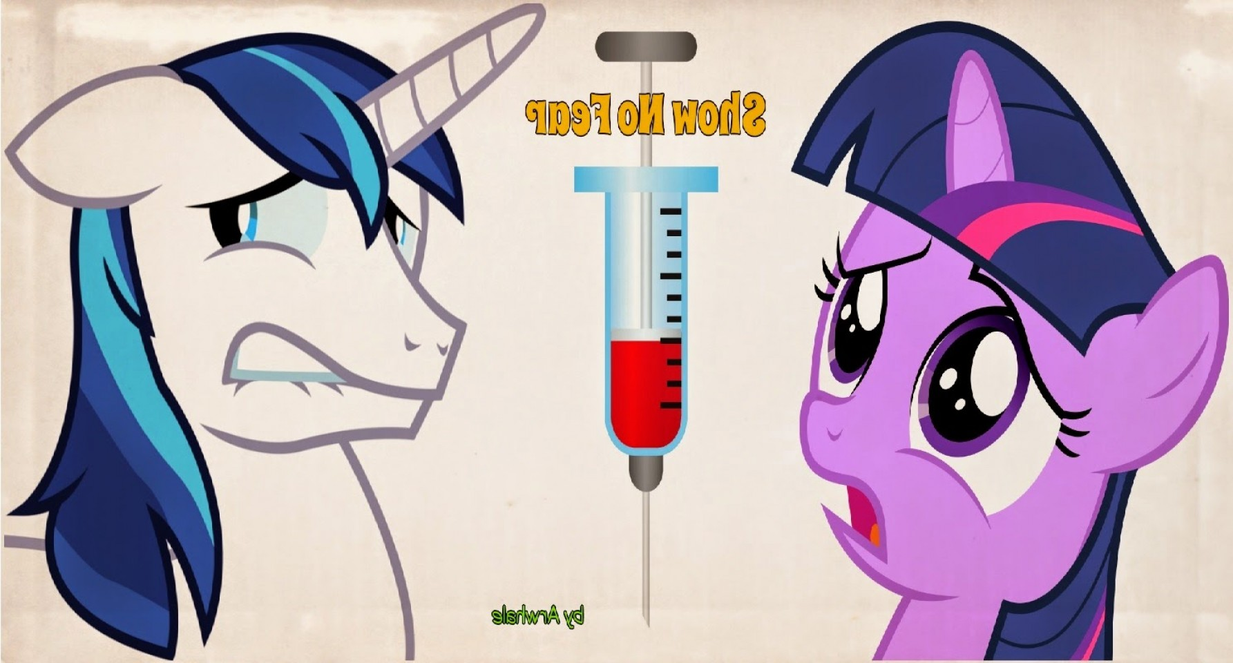 MLP Vector Syringe: Story Shining Armor Shows No Fear