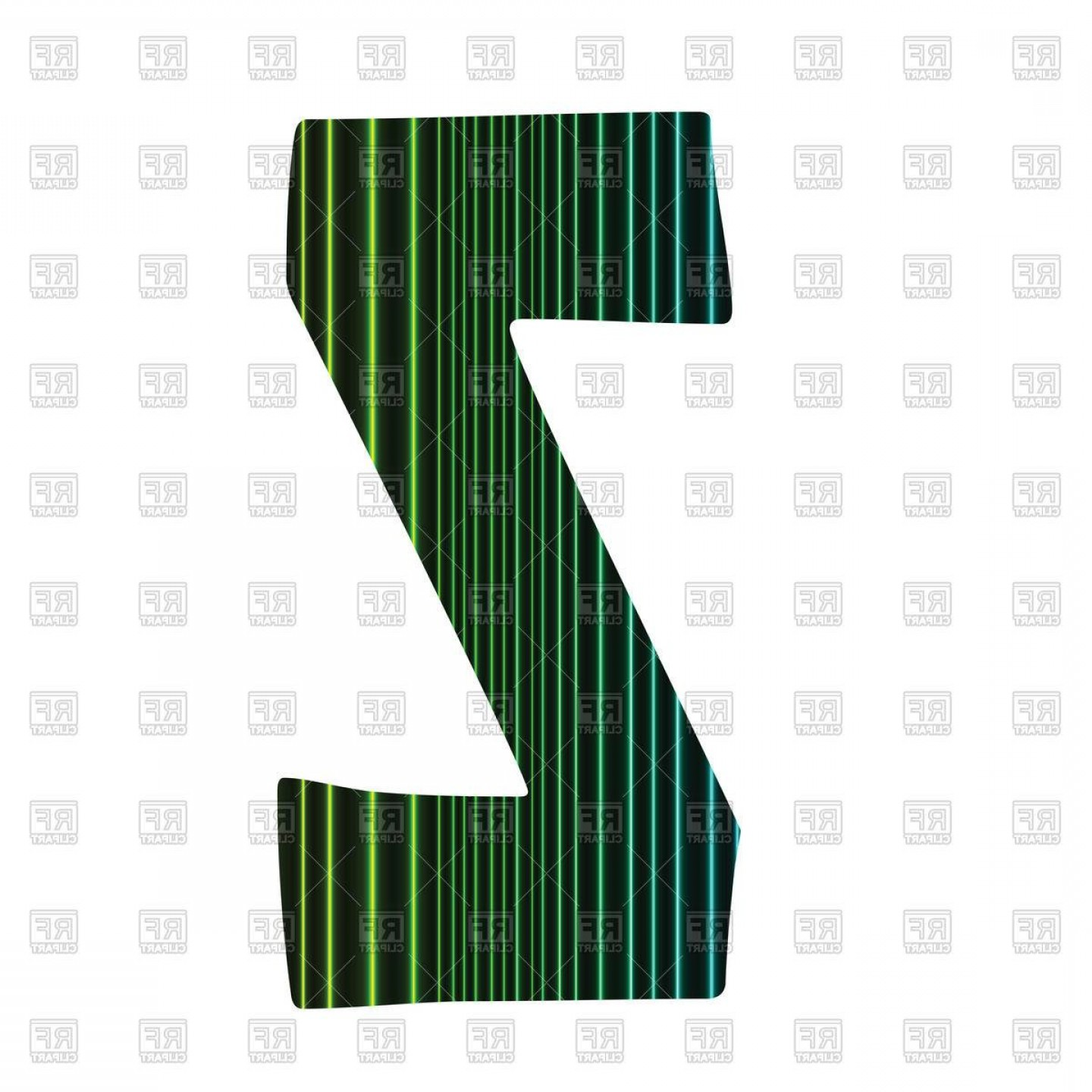 Letters Symbols Vector Art: Striped Letter Z Vector Image Vector Artwork Of Signs Symbols Ideas Of Letters That Start With Z