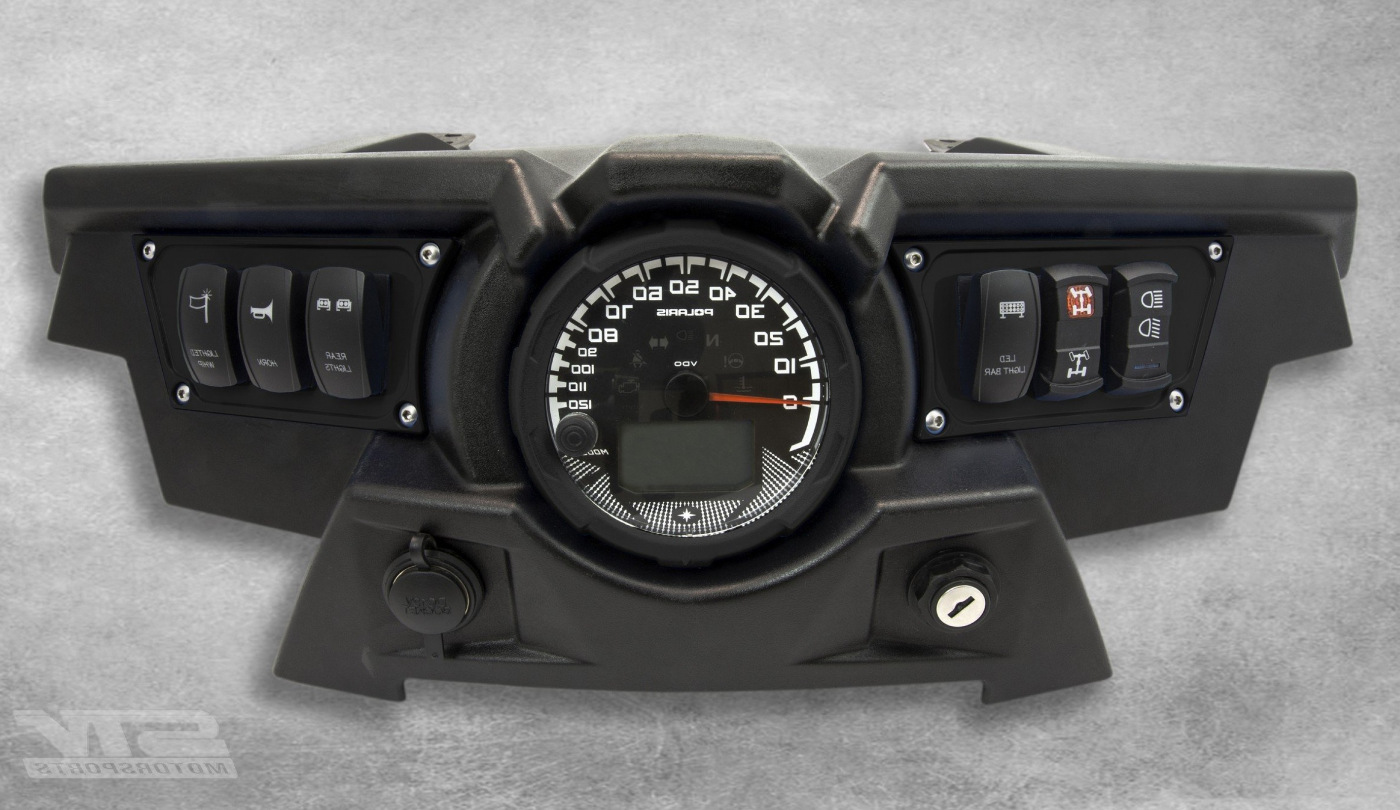 RZR Vector Black And White: Stv Motorsports Custom Aluminum Black Dash Panel For Polaris Rzr Xp With Laser Rocker Switches Included Dp