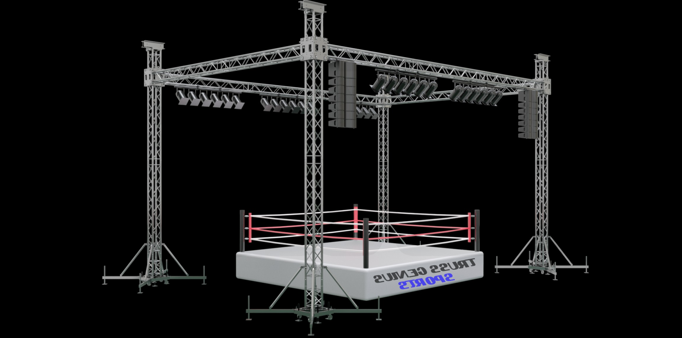 Aluminum Truss Design Vector: Stylish And Beautiful Lighting Truss Intended For Residence Image