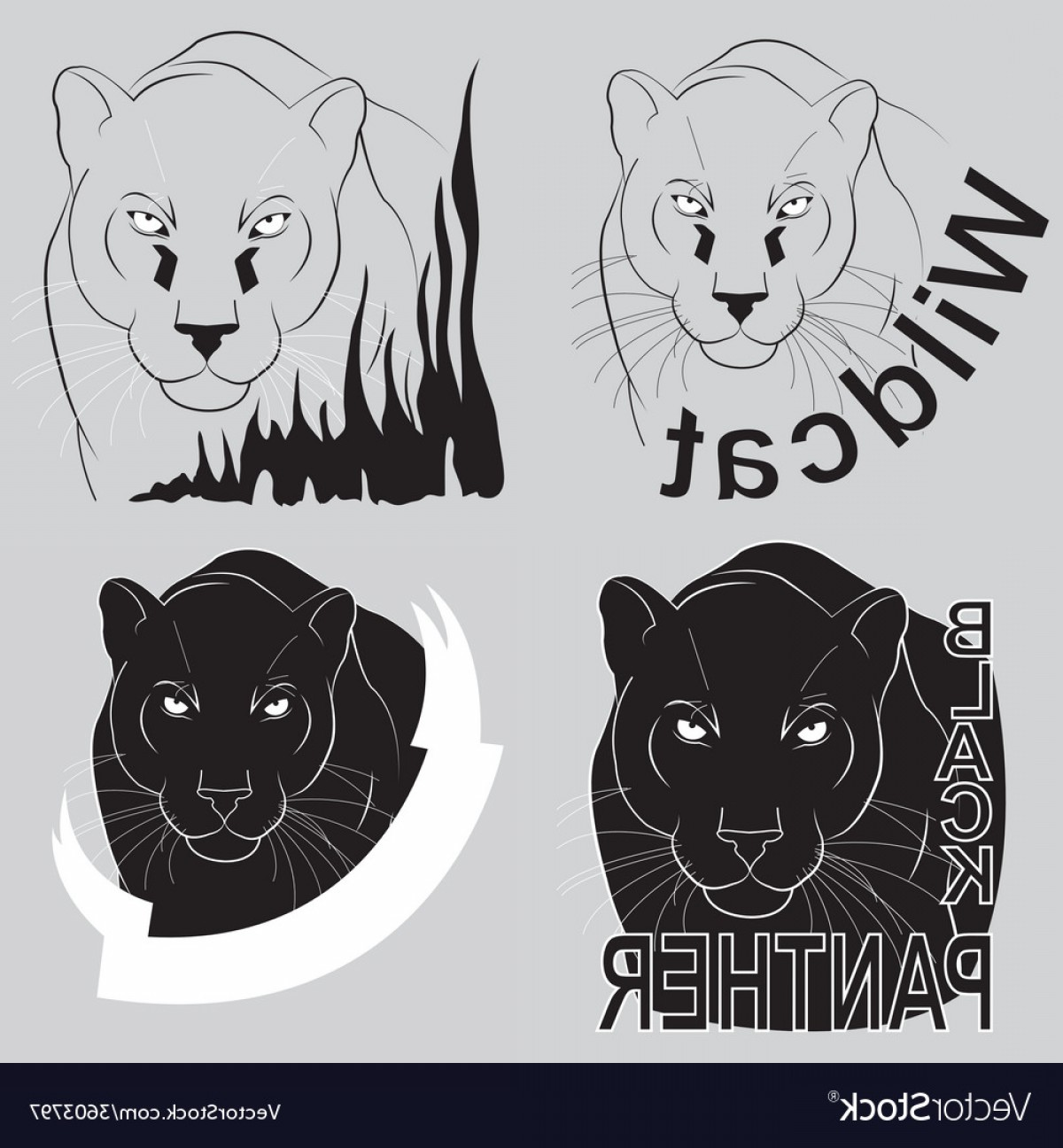 Panther Vector: Stylish Logo Black Panther Vector