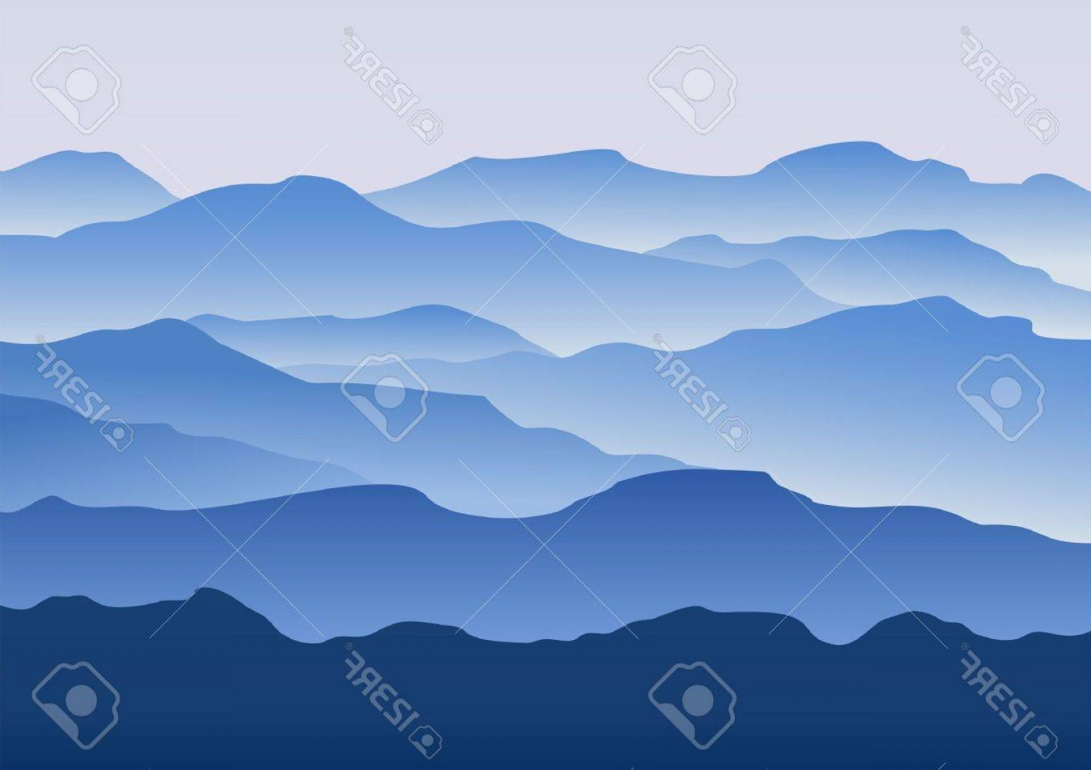 Mountain Range Silhouette Vector Free: Stylish Photosilhouette Of The Mountains In The Morning In The Vector