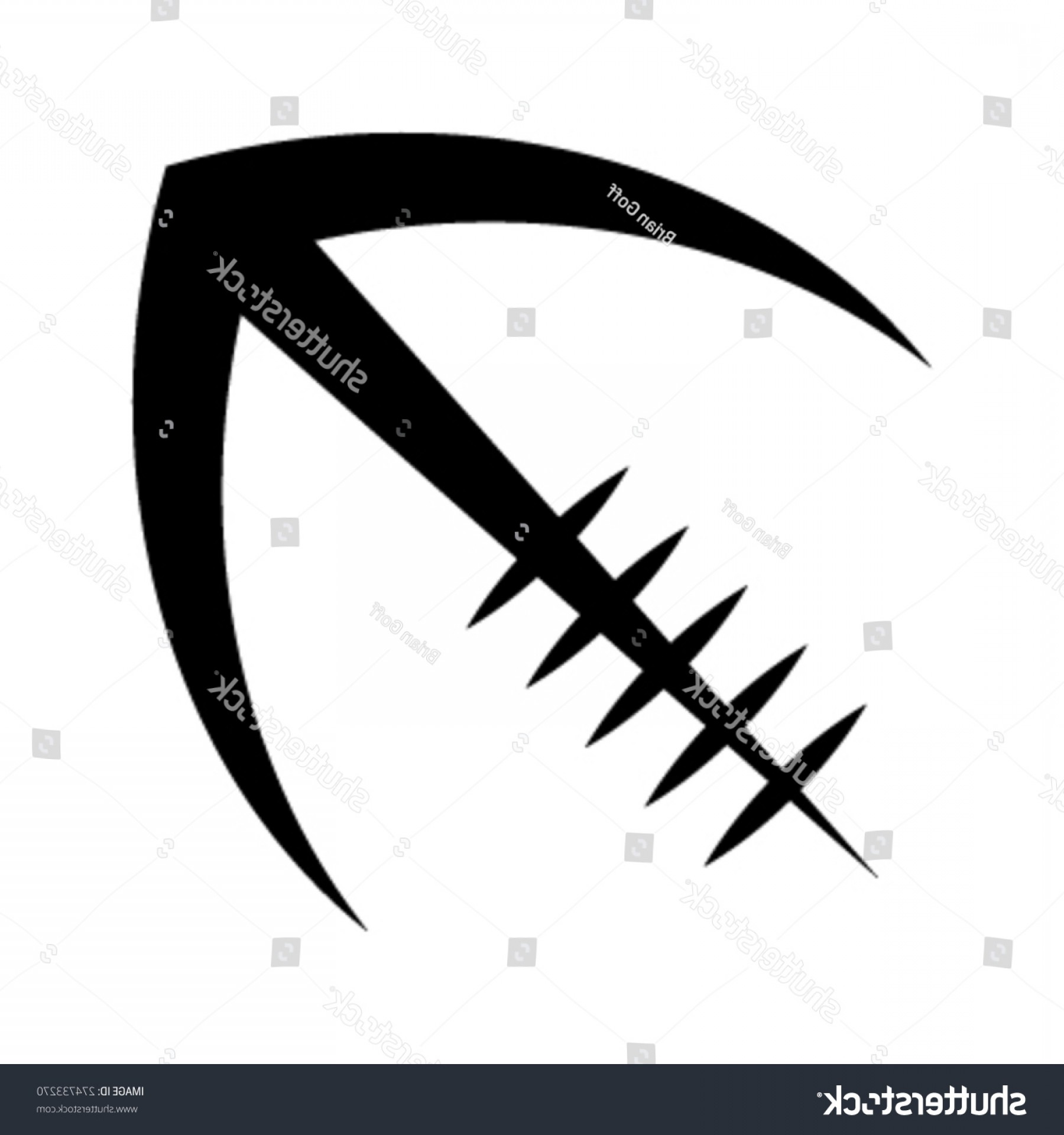 Black And White Vector American Football: Stylized American Football Logo Vector Icon