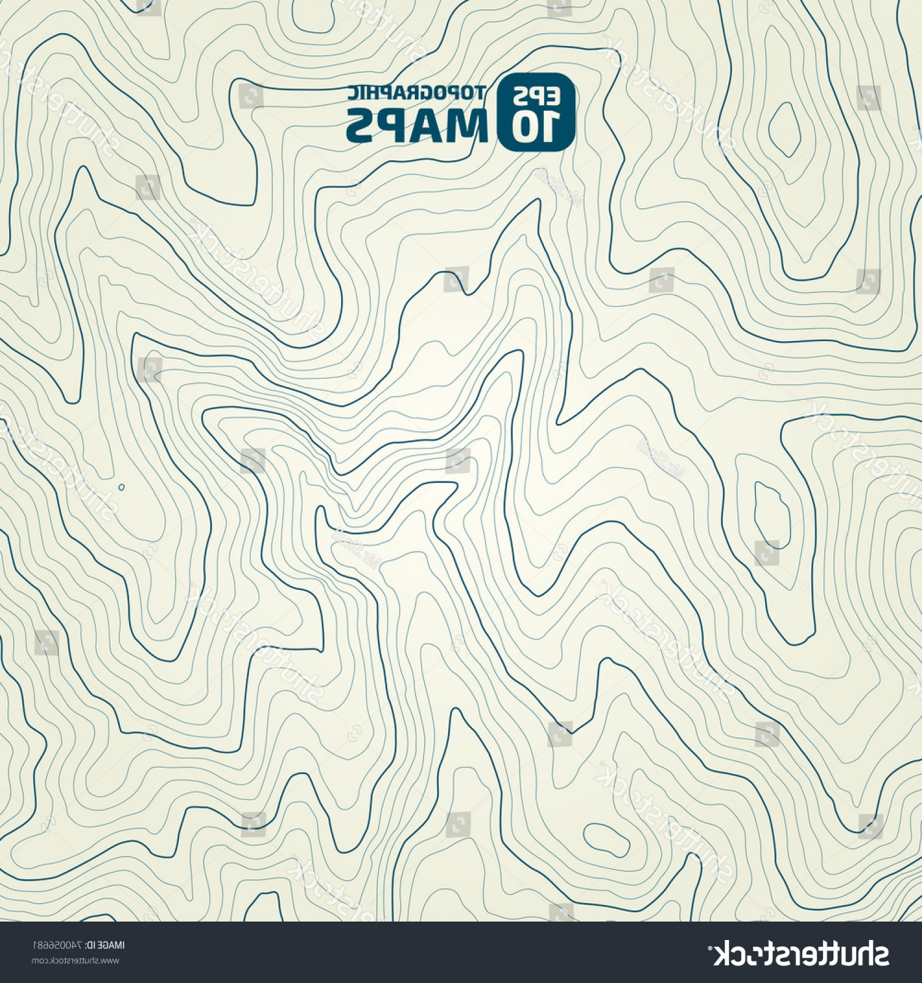 Vector Travel APS: Stylized Height Topographic Contour Lines Contours