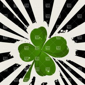 Four Leaf Clover Vector Art Black And White: Photostock Vector Black Silhouettes Of Four Leaf Clover Vector