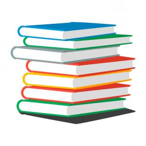 Book Stack Vector Graphic: Stack Books Or Magazines Vector
