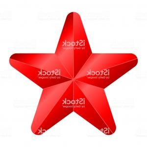 4 Point Star Vector 3D: Star Symbol Icon Red Gradient D Pointed Rounded Isolated Vector Gm