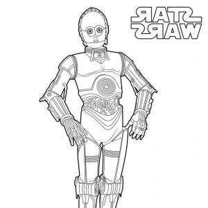 C-3PO Star Wars Vector: Star Wars C Po Coloring Page Tearing Cpo Pages