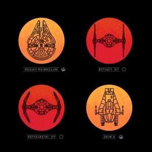 Millenium Falcon Vector Symbol: Star Wars The Force Awakens Posters Light Dark Side