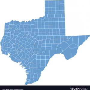 Texas Counties Map Vector: Map Brown County Texas Detailed Map Brown County Texas Usa Image