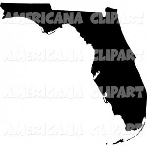 Americana Vector: State Of Florida Clip Art Vector