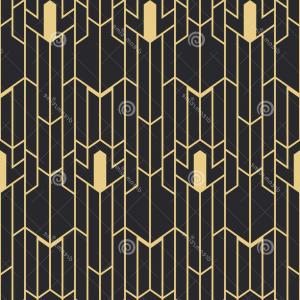Art Deco Tile Vector Design: Stock Illustration Abstract Art Deco Seamless Pattern Vector Modern Tiles Monochrome Background Image
