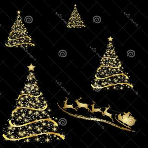 Less Christmas Tree Abstract Vector Background: Modern Abstract Christmas Tree Background Eps