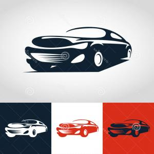 Sports Car Vector Logo: Abstract Car Sport Racing Logo Template Vector