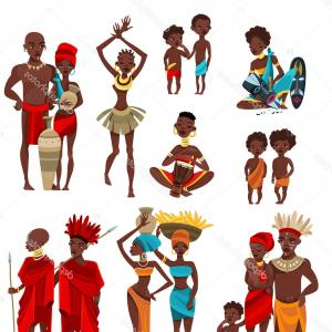 Vector African People: African Black Woman Avatar Vector African American Woman Face Emotions Set Character Business People Cartoon Illustration Image
