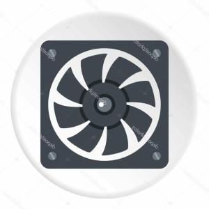 Vector Power On Board Compressor: Air Conditioner Compressor Vector Icon Set
