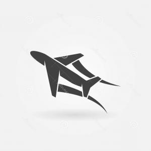 Vector Airplane Symbol: Vector Airplane Icon Plane Symbol Flight