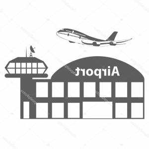 DC-3 Vector: Aeroplane Icon Vector Illustration Airplane Flight Travel Symbol Flat Plane View Flying Aircraft Stock Vector Air Cargo Image