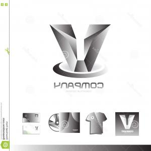 V Logo Vector: Letter V Logo Vector Black Color