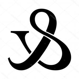 Ampersand Symbol Vector: Shoe Lace Ampersand Symbol Vector