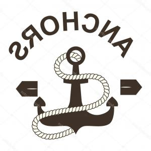 Marine Emblem Vector Art: Stock Illustration Anchor Symbols Vector Badge