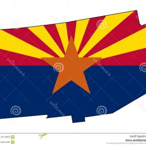 Arizona State Outline Vector: Arizona Map Outline Smooth Simplified Us State Shape Map Vector Arizona Map Outline Image