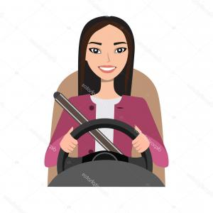 Asian Woman Vector: Stock Illustration Asian Woman Driving A Car