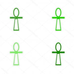 Vector Design Of An Ankh: Ankh Symbol Egyptian Cross Vector