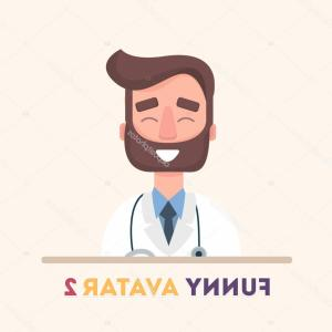 Lab Coat Icon Vector: Stock Illustration Attractive Doctor In White Lab